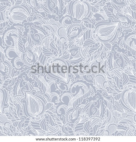 Seamless pattern lace. Paisley background - stock vector