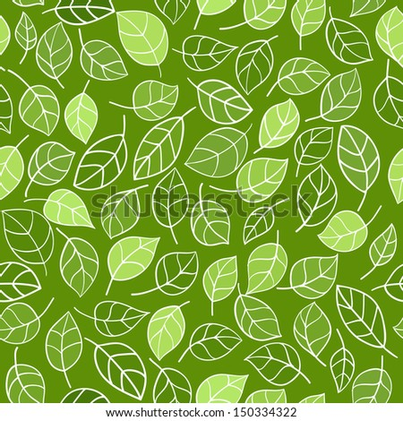 Seamless pattern leafs - stock vector