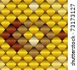 Seamless pattern look like snake skin - stock vector