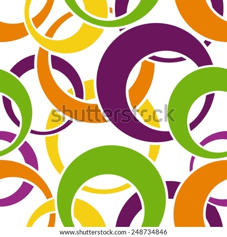 Seamless pattern made from colorful circles - stock vector