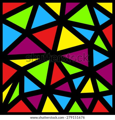 Seamless pattern made from colorful triangles - stock vector