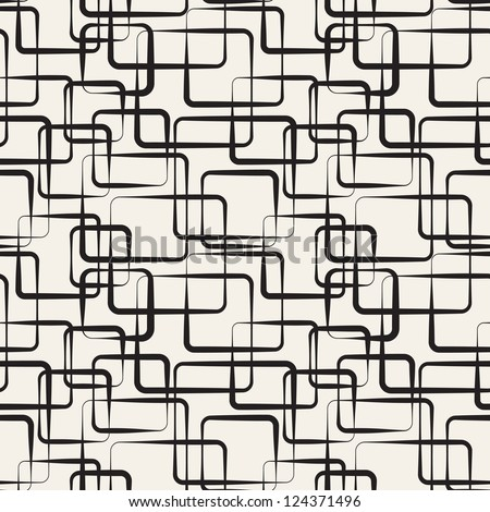 Seamless pattern. Modern stylish texture. Endless abstract background with crossed squares - stock vector