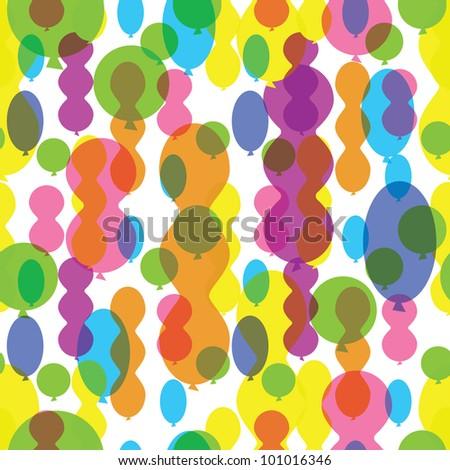 seamless pattern of balloons - stock vector