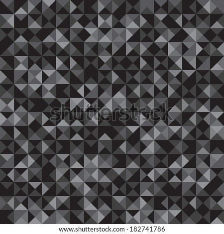 Seamless pattern of black and gray triangles