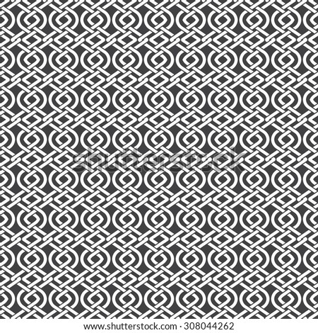 Seamless pattern of braided strips with swatch for filling. Abstract Celtic ornament texture. Fashion geometric background for web or printing design. - stock vector