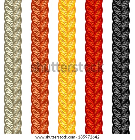 Seamless pattern of braids. endless stylish texture - stock vector