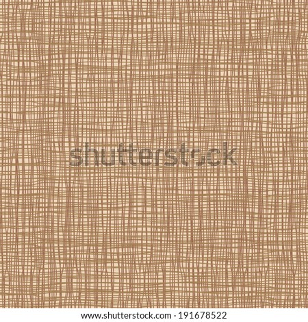 Seamless pattern of brown cloth texture - stock vector