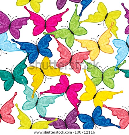 Seamless pattern of butterfly