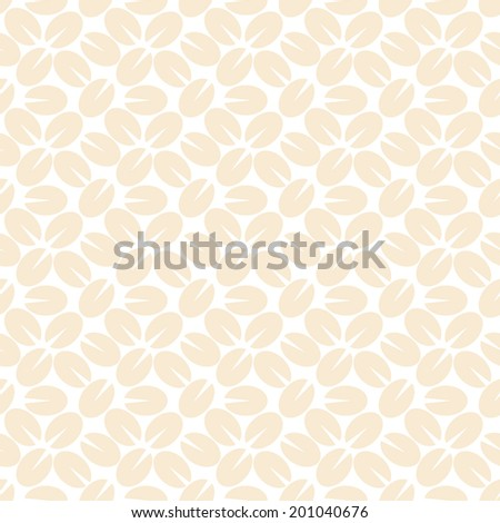 Seamless pattern of coffee beans. Vector illustration