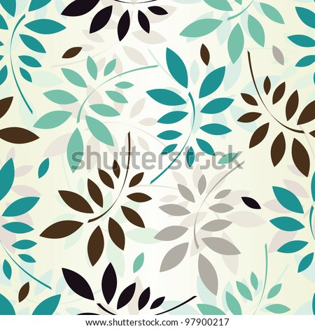 seamless pattern of colored leaves. EPS 8 vector illustration - stock vector