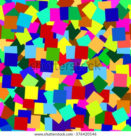 Seamless pattern of colored squares children - stock vector