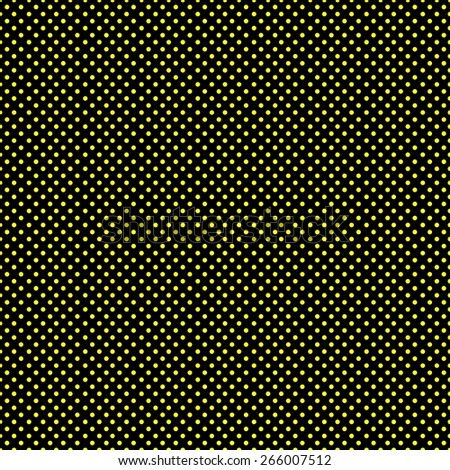 Seamless pattern of colorful polka dot in a small stylish in beautiful colors black and yellow