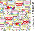Seamless pattern of cup - stock photo