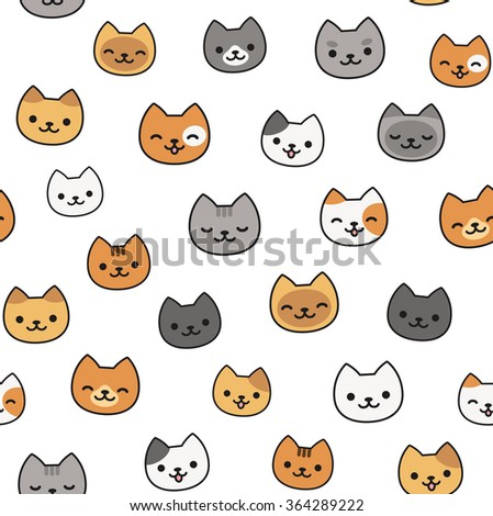 Cat face stock photos images pictures shutterstock - Cartoon cat background ...