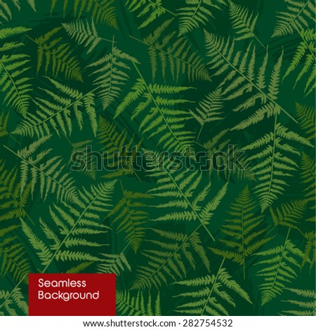 Seamless pattern of fern. - stock vector