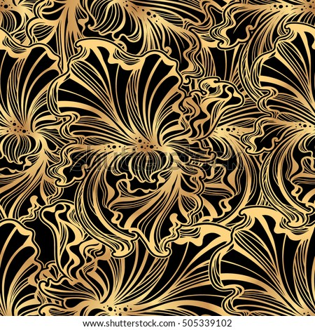 Art nouveau pattern stock images royalty free images for Art nouveau shapes