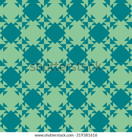 Seamless pattern of geometric shapes. Kaleidoscope. Triangles and squares. Geometric background. Image can be repeated or tiled without visible seams. - stock vector