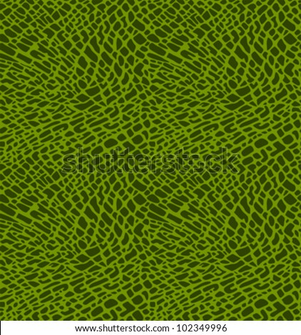 Seamless pattern of green crocodile skin - stock vector