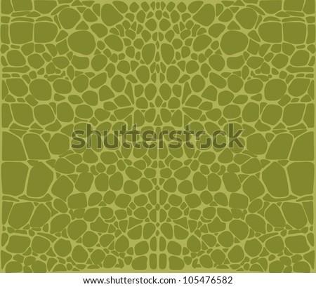 Seamless pattern of green crocodile skin Pattern - stock vector