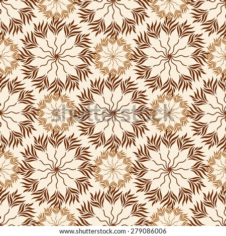 seamless pattern of green leaves on a white background. eps 10 - stock vector