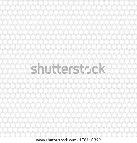 Seamless pattern of hexagons, white on gray - stock vector