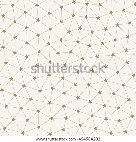 Seamless Pattern of Interconnected Stars in Mesh of Triangles. Which is Arranged more Regularly.