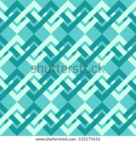 Seamless pattern of interlacing lines in retro style. Can be used to fabric design, wallpaper, decorative paper, scrapbook albums, web design, etc. Swatches of seamless pattern included in the file. - stock vector