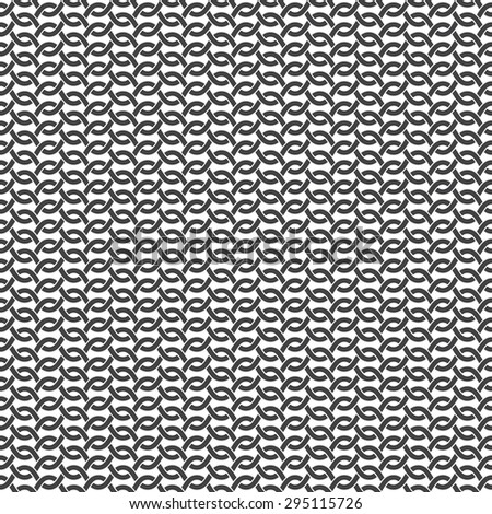 Seamless pattern of intersecting waves with swatch for filling. Celtic chain mail. Fashion geometric background for web or printing design. - stock vector