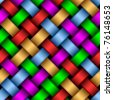 Seamless pattern of interwoven multicolored ribbons. - stock photo