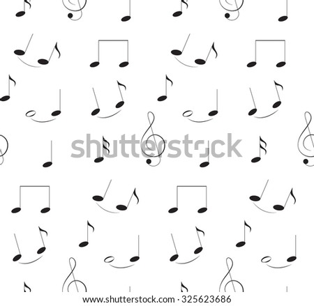 seamless pattern of notes. Music