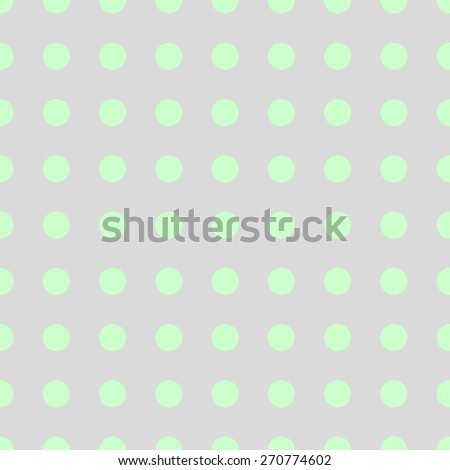 Seamless pattern of repeating the great circle on a pale gray background green circles - stock vector