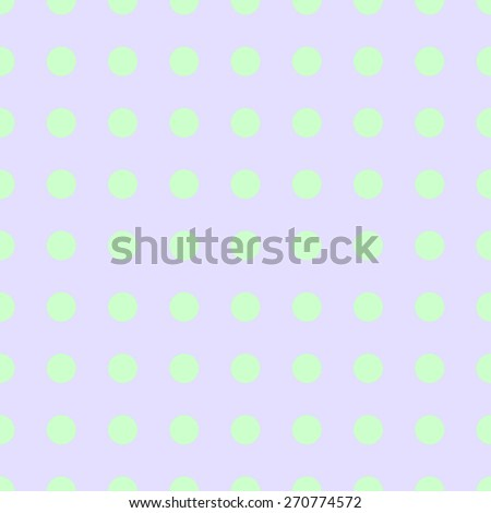 Seamless pattern of repeating the great circle on a pale purple background green circles - stock vector
