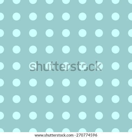 Seamless pattern of repeating the great circle on the aquamarine blue background - stock vector