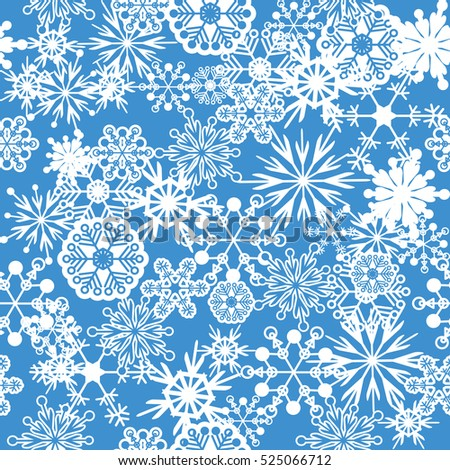 seamless pattern of snow background