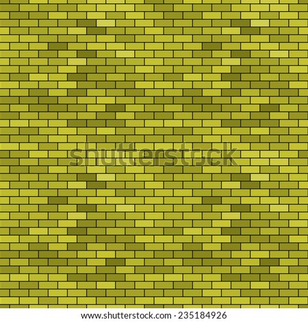 Seamless pattern of the abstract brick wall background  - stock vector