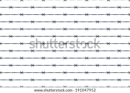 Seamless pattern of the barbed wire - stock vector