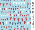 seamless pattern of united kingdom party bunting, with clipping path - stock vector