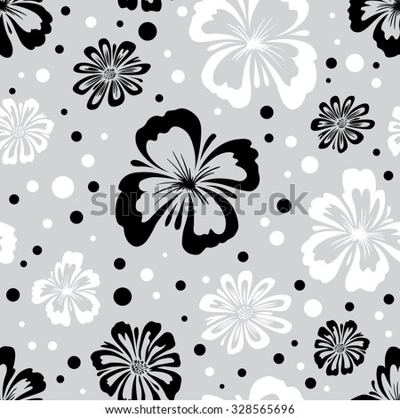 Seamless pattern of wild flowers. Endless floral texture. Floral wallpaper