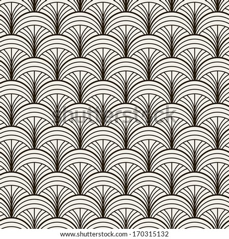 Seamless pattern. Persian antique ornament. Geometric stylish background. Vector repeating texture