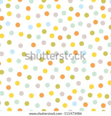 Seamless pattern, polka dot fabric, wallpaper, vector - stock vector