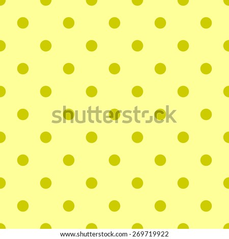 Seamless pattern polka dot style pale yellow and bright yellow mustard dark - stock vector