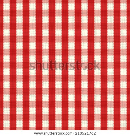 seamless pattern red and white tablecloth. vector - stock vector