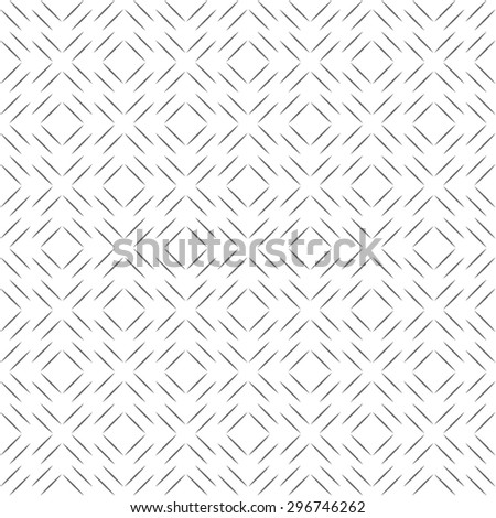 Seamless pattern. Simple linear texture. Regularly repeating geometrical elements, shapes, thin lines, rhombuses, diamonds. Monochrome. Backdrop. Web. Vector element of graphic design - stock vector