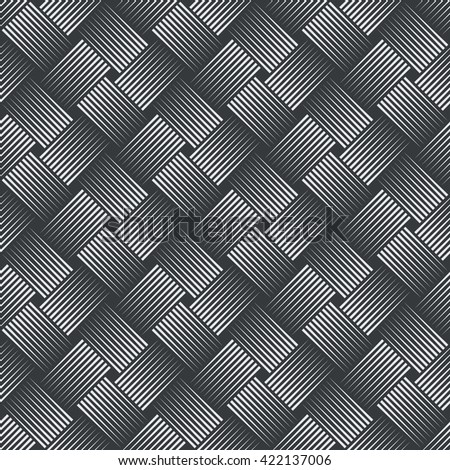 Seamless pattern. Simple stylish texture with thin lines. Regularly repeating geometrical linear grid with intersecting thin lines. Vector element of graphical design - stock vector