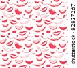 Seamless Pattern - Smiles - stock photo