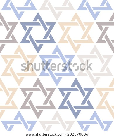 Seamless pattern. Star of David. Vector thematic texture - stock vector