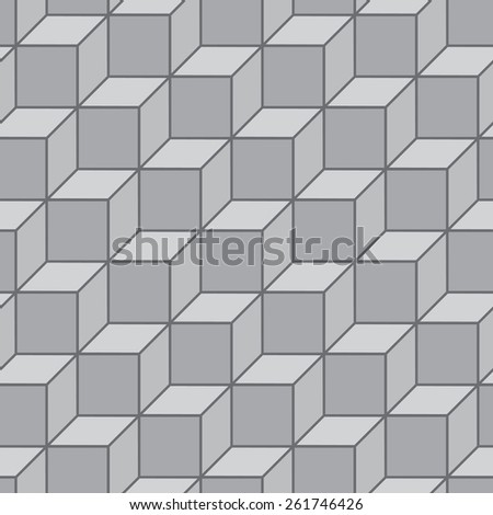 Seamless pattern. Stylish geometric texture in the form of steps. Repeating diamonds and squares. Monochrome. Backdrop. Web. Vector illustration - stock vector