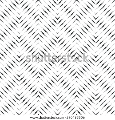Seamless pattern. Stylish geometric texture in the form of waves. Repeating dotted lines. Dots of the different size. Monochrome. Backdrop. Web. Vector illustration for your design - stock vector