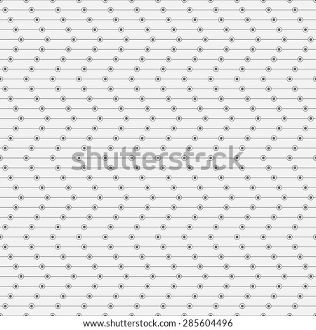 Seamless pattern. Stylish geometric texture in the form of zigzag. Repeating lines, dots, circles. Monochrome. Backdrop. Web. Vector element of graphic design for your project - stock vector