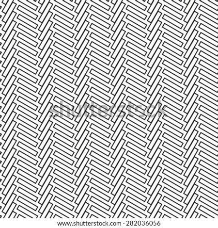Seamless pattern. Stylish geometric texture with repeated polygons. Monochrome. Vector illustration